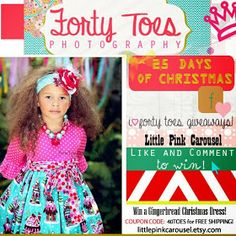 Awesome GIVEAWAY  #Fortytoesgiveaway #littlepinkcarousel