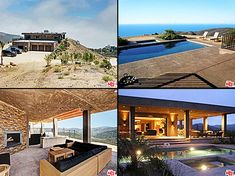 Caitlyn Jenner's home, including her view, her patio, and her pool at night