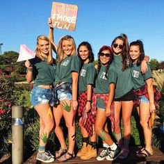 Having a camping theme, but not wanting to actually go camping. Sorority Recruitment Themes, Panhellenic Recruitment, College Sorority, Sorority Bid Day, Sorority Life, Sorority Shirts, Camping Theme, Go Camping, Camping Ideas