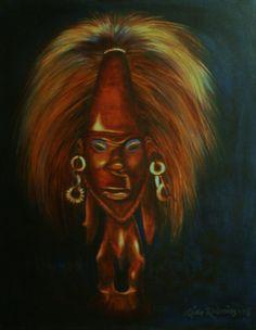 African Statue III by RIITTAKALENIUSART on Etsy, $1000.00