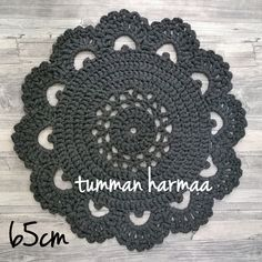 Virkattu matto (Kultamuru PAKSU) Crochet Home Decor, Crocheting, Crochet Earrings, Crochet Hats, Beige, Rugs, Knitting, Diy, Inspiration
