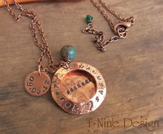 """Hand Stamped Personalized Necklace ~ """"We've decided on Forever"""" by TNineDesign"""