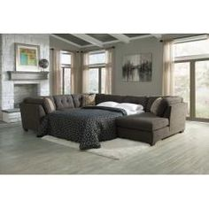 Leather Sofa  in by Ashley Furniture in San Antonio TX Armless Full Sleeper