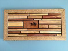 Handmade Wood Wall Art, Unique Wood Wall Art, Quarter Sawn Oak Frame