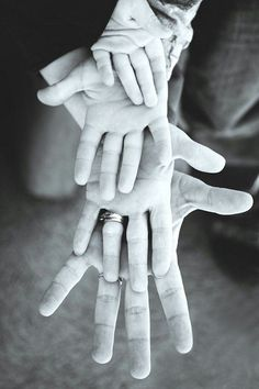 Hands Family Photo Idea.