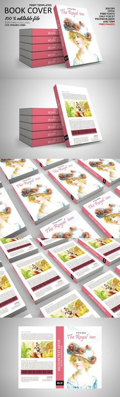 Book Cover Print Template. Stationery Templates. $7.00