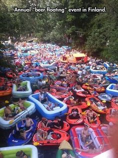 Amazing water festival… you will see the giant orange covered raft half way up the river in the picture. That is where I would be located.