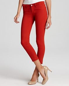 J Brand 811 Mid Rise Skinny Jeans in Blood Orange UMMM These are for Emily