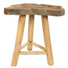 Nevšední konferenční stolek Snag z masivního teakového dřeva.