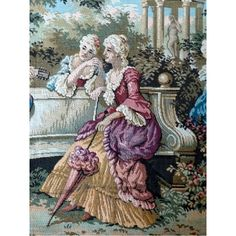 Antique Tapestry | Large French Antique Tapestry c.1920