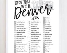 Denver Bucket List Wall Art Print by OwlYouNeedIsLoveShop on Etsy