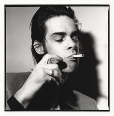 Nick Cave during a photo session, Paris, 1988