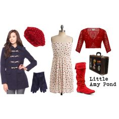 Little Amy Pond (Inspired), created by doctorwhodressing on Polyvore