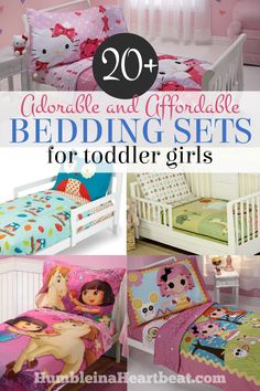 All toddler girls would love these adorable toddler bedding sets for when they transition from a crib to a toddler bed! There are so many to choose from! Plus, they're super affordable!