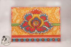 Gorgeous Bohemian Bazaar card by Denise Hahn on the blog! #Graphic45 #cards