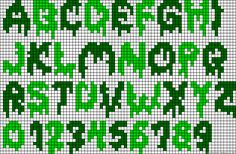 Creepy Alphabet Perler Bead Pattern