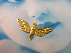 Raw Brass Bee Stamping Charms 1165RAW x2 by dimestoreemporium on Etsy