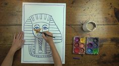 Free! Egyptian Mummy Art Lesson from Artventure by Artventure. Artventure.com.au is where kids learn to draw and paint by following along with Kirsty the artist. Perfect for use in schools due to its links to the Australian National Curriculum.