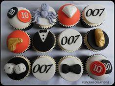 James Bond 007 Cupcakes - by Cupcakecreations @ CakesDecor.com - cake decorating website