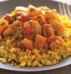 Quinoa with Moroccan Winter Squash and Carrot Stew    Read More http://www.epicurious.com/recipes/food/views/Quinoa-with-Moroccan-Winter-Squash-and-Carrot-Stew-