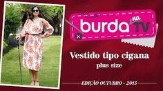 burda na TV 62 – Vestido tipo cigana plus size