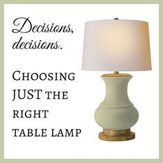 JRL Interiors — Choosing the Right Table Lamps Buffet Lamps, Table Lamps, A Table, Design Blogs, Interior Design Tips, Glass Lamp Base, Home Staging Tips, Gourd Lamp, Drink Table