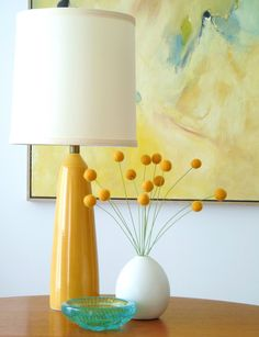 "DIY Felted Wool ""Billy Buttons"" by dans-le-townhouse.blogspot.ca #DIY #Billy_Buttons #dans_le_townhouse"