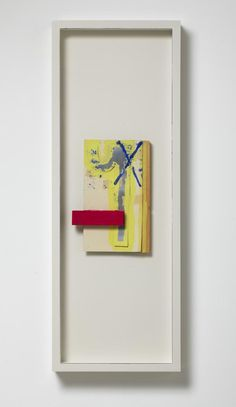 RICHARD TUTTLE   Perceived Obstacle No. 28 (1991) Gouache, tape, glue, metal, wood and museum board, artist's frame 95,9 x 34,9 x 7 cm Overall framed