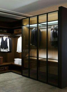 Home Inspiration: 32 Beautiful and Luxurious Walk-In Closet Designs Walk In Closet Design, Wardrobe Design, Closet Designs, Closet Storage Systems, Closet System, Bedroom Wardrobe, Wardrobe Closet, Wardrobe Storage, Corner Wardrobe