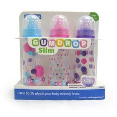 The First Years Girl's Bottles GumDrop 3 pk 8oz