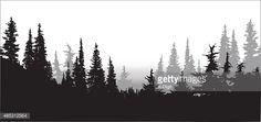 силуэт лес вектор - Поиск в Google