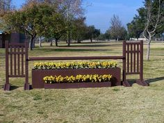 Horse Jumps - Hunter ring jump, or brighten up for the jumper ring