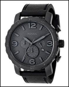 FOSSIL MEN'S JR1354 NATE BLACK WATCH