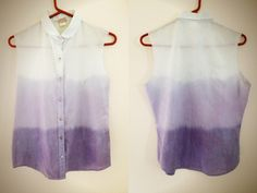OMBRE Peter Pan collared shirt. $24.99, via Etsy.