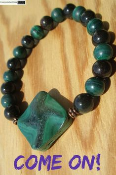 * MALACHIT PHANTOMQUARZ ARMBAND * Malachite Phantom / Garden Quartz Bracelet * Malachite, Quartz, Healing, Beaded Bracelets, Gemstones, Ebay, Garden, Tuin