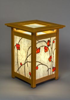 Stained glass lamps and andons, original designs