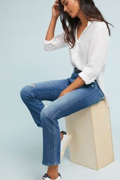Shop the Mother The Rascal High-Rise Straight Ankle Jeans and more Anthropologie at Anthropologie today. Read customer reviews, discover product details and more.