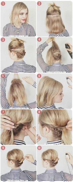 Short hair tutorial.