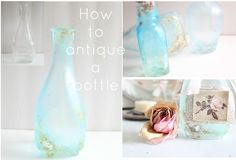 How to make a new bottle look old.