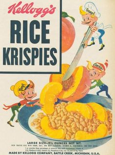 """Rice Krispies was known as """"The Talking Cereal"""" because of its distinctive popping sound when milk is poured on it. So it makes sense that the famous """"Snap! Crackle! Pop!"""" slogan was then used a year later, in 1929."""