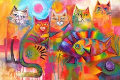 """""""Cats & Fish """" by Karin Zeller 
