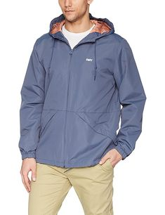 52a7e13552ca Obey Men s Ambush Windbreaker Zip up Jacket
