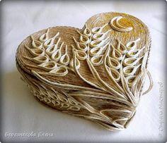 Приветствую всех-всех-всех)))А у меня очередная «сердечная» шкатулочка.Но в этот раз с колосьями пшеницы. Ну,что ж,начнём просмотр?  фото 1