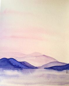 Landscape watercolor | by Florence S. | Bubbles on my Planet