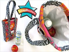 ScrapBusters: Insulated Lunch Tote with PUL Lining | Sew4Home