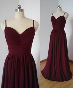 dress, burgundy dress, bridesmaid dress, long dress, chiffon dress, simple dress, long chiffon dress, burgundy bridesmaid dress