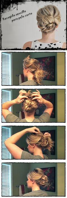 Peinados con pelo corto paso a paso en chicastips.com