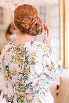 love this wrapped side bun - wedding hair