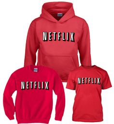Netflix Red and chill Mens and Girls Shirt,Hoodies,Sweatshirts size S to XXXL Unisex adult