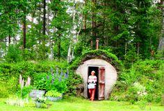 "Old Swedish style root cellar ""jordkällare"" for your home grown veggies. Vassjön, Orsa finnmark, Dalarna, Sweden."
